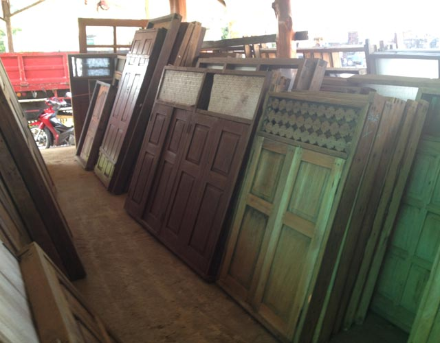 ANTIQUE TIMBER DOORS & WINDOWS - Antique Timber - Tropical Home Furniture Chiang Mai